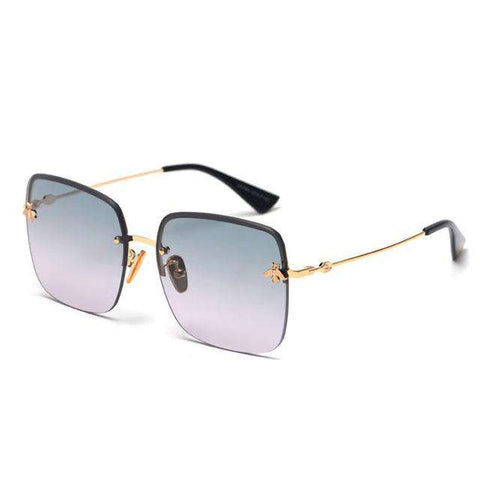 Square Fashion High Quality Alloy Frame Dainty Sunglasses UV400
