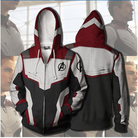 Avengers Endgame Quantum Realm Advanced Tech Hoodie superhero Sweatshirt
