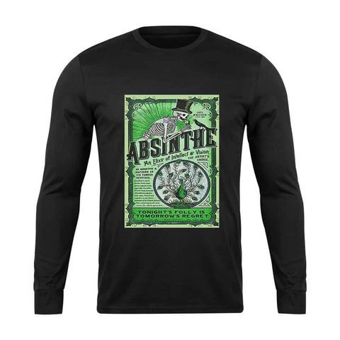 Absinthe 1871 Recipe Psychedelic Alcohol Ecstasy Long Sleeve T-Shirt - Nuu Shirtz
