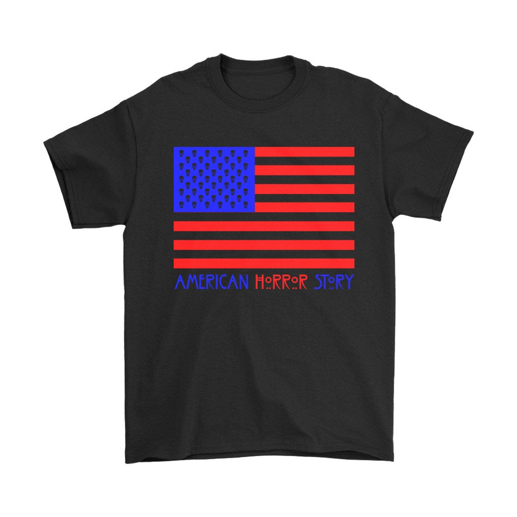 Ahs 1984 American Horror Story Usa Flag Men'S T-Shirt