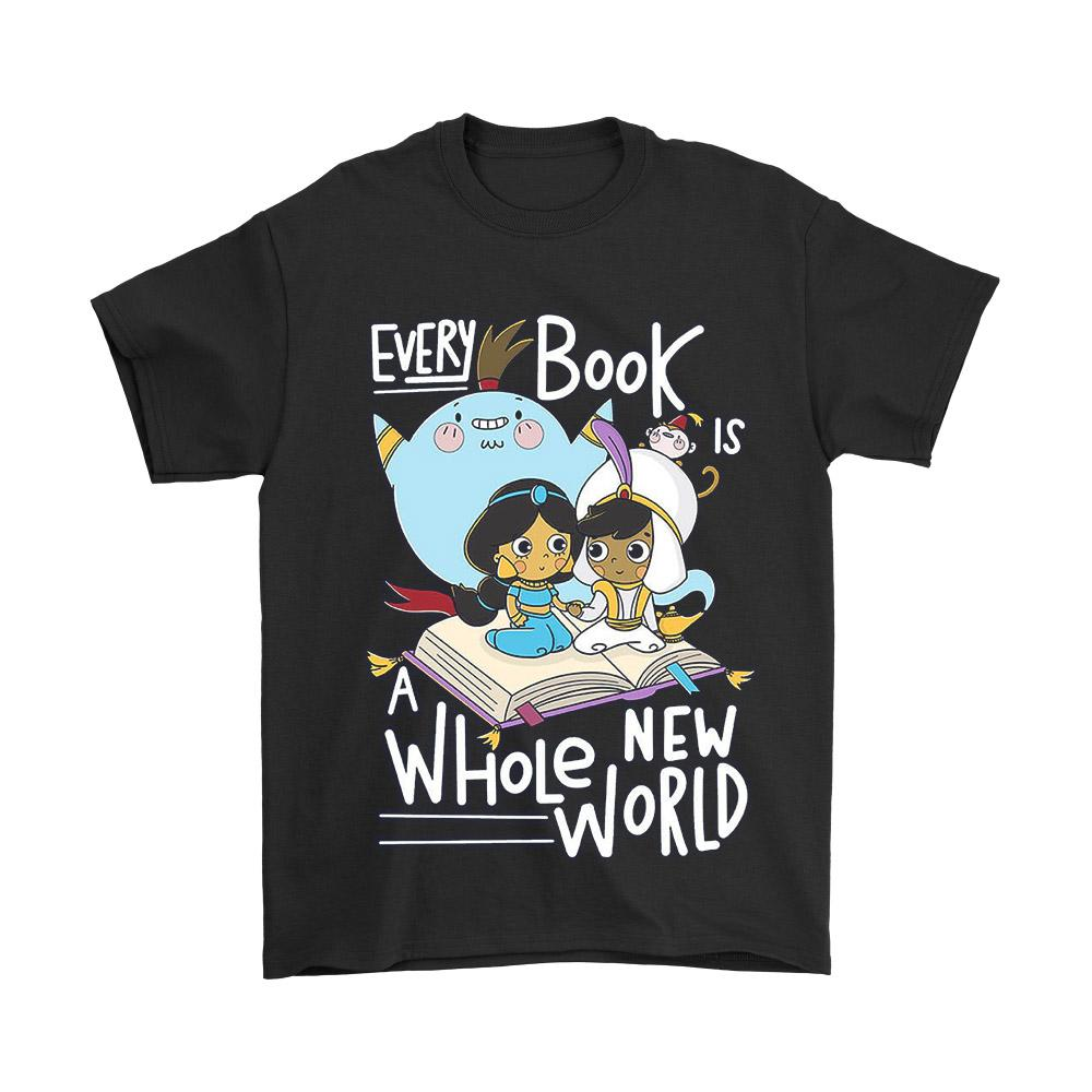 Aladin Jasmine Jin Every Book Is A Whole New World Men's T-Shirt - Nuu Shirtz
