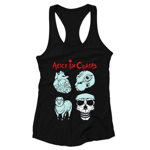 Alice In Chains Symbols Woman's Racerback Tank Top - Nuu Shirtz