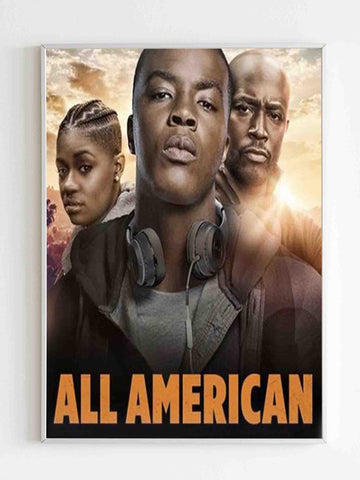 All American Season 2 Logo Poster - Nuu Shirtz