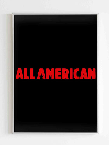 All American Season Ii Logo Poster - Nuu Shirtz