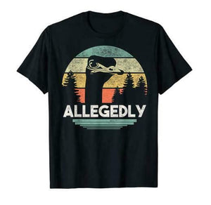 Allegedly Ostrich Funny Bird Lover Men's T-Shirt - Nuu Shirtz
