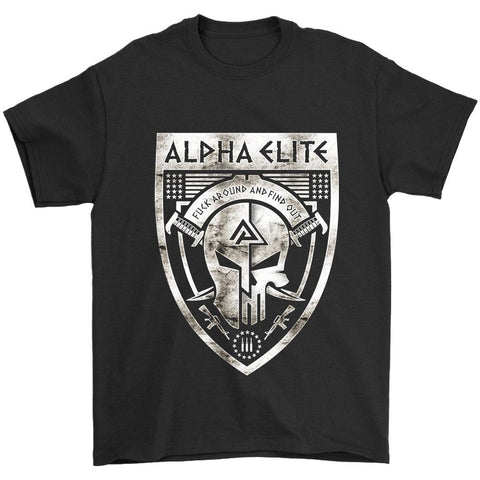 Alpha Elite Logo Fuck Around And Find Out Men's T-Shirt - Nuu Shirtz