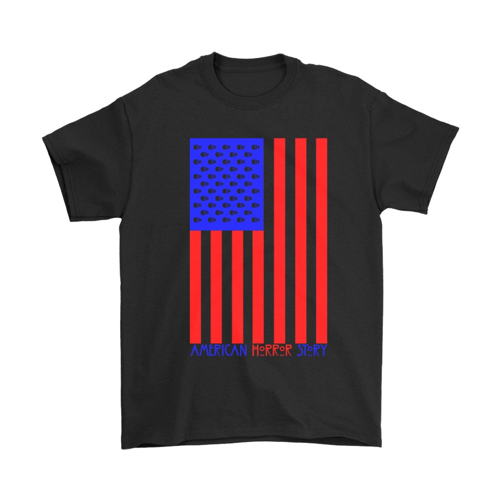 American Horror Story Usa Flag V2 Ahs 1984 Men'S T-Shirt