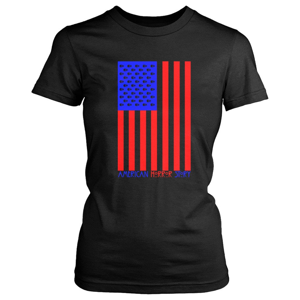 American Horror Story Usa Flag V2 Ahs 1984 Women'S T-Shirt