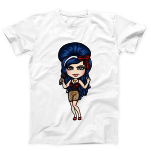 Amy Winehouse Drawing Cartoon Men's T-Shirt - Nuu Shirtz
