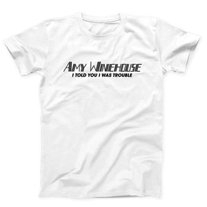 Amy Winehouse I Told You I Was Trouble Logo Men's T-Shirt - Nuu Shirtz