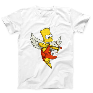 Angel Of Love Bart Simpson Men's T-Shirt - Nuu Shirtz