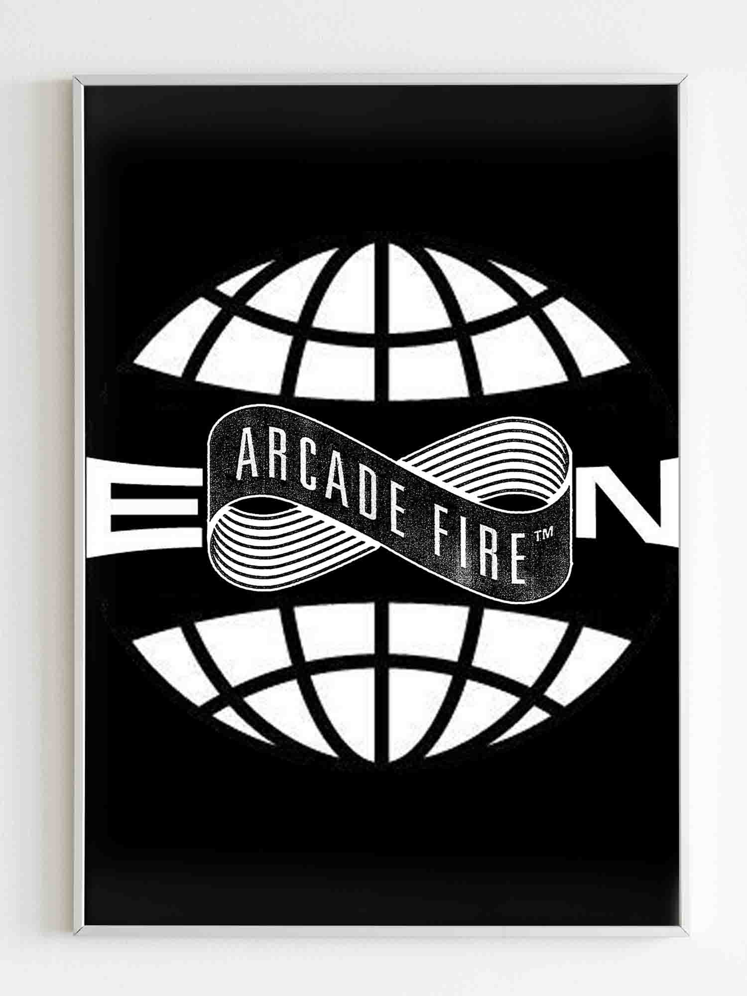 Arcade Fire Everything Now Logo Poster