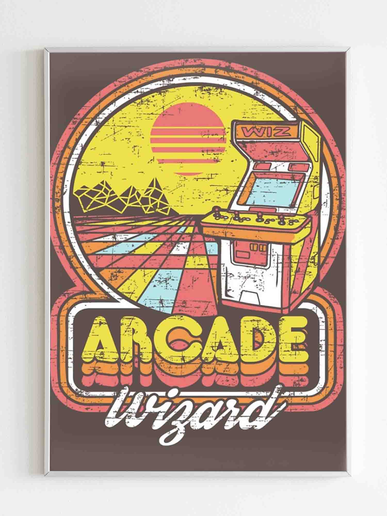 Arcade Wizard 80S Game Poster