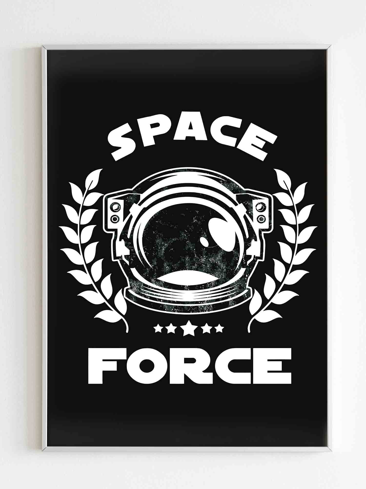 Astronaut Space Force Poster