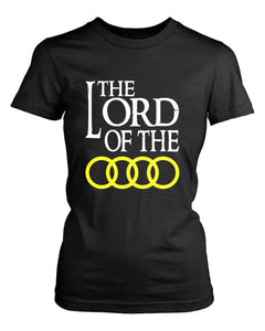 Audi Lord Of The Rings Logo Auto Moto Funny Women'S T-Shirt