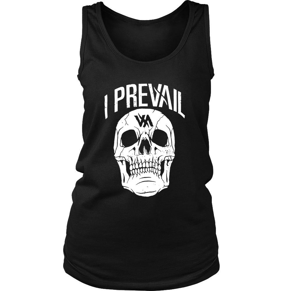 Authentic I Prevail Large Rowdy Skull Women's Tank Top