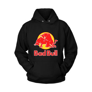 Bad Bull Funny Red Bull Parody Hoodie - Nuu Shirtz