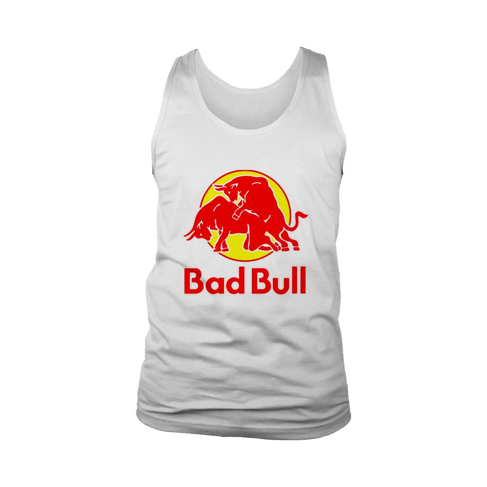 Bad Bull Funny Red Bull Parody Men's Tank Top - Nuu Shirtz