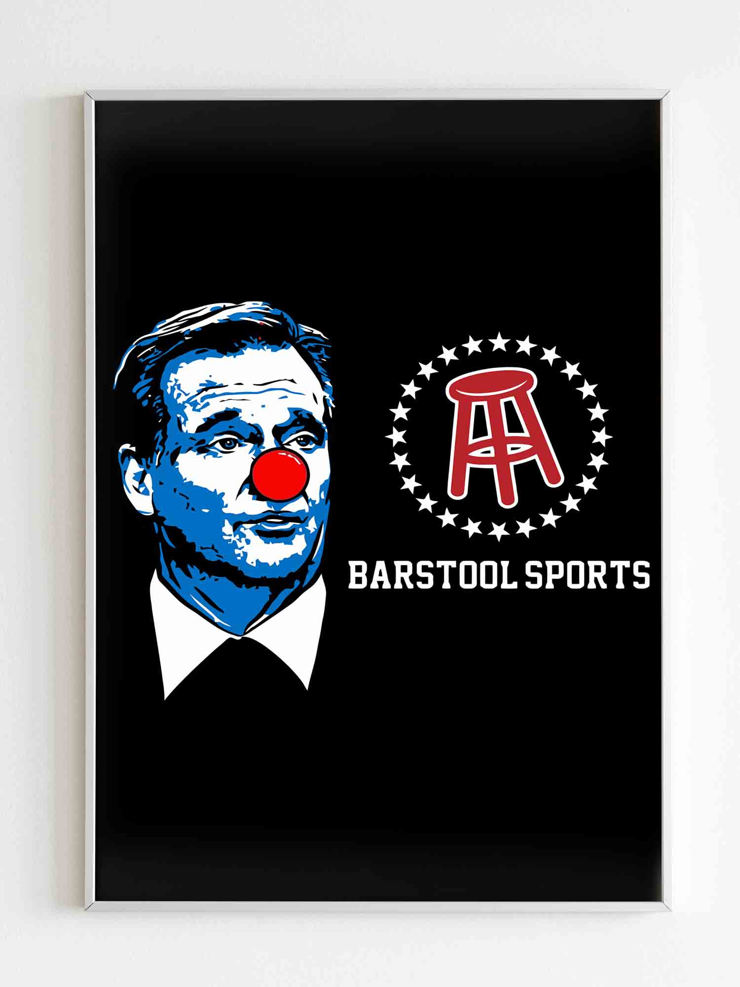 Barstool Sports Roger Goodell Clown Poster