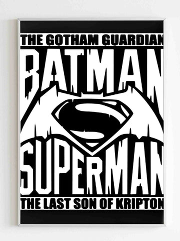 Batman Vs Superman Poster - Nuu Shirtz