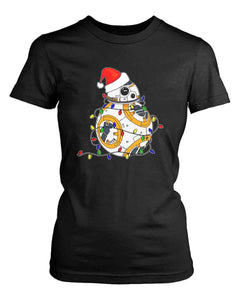 Bb8 Xmas Lights Women'S T-Shirt - Nuu Shirtz