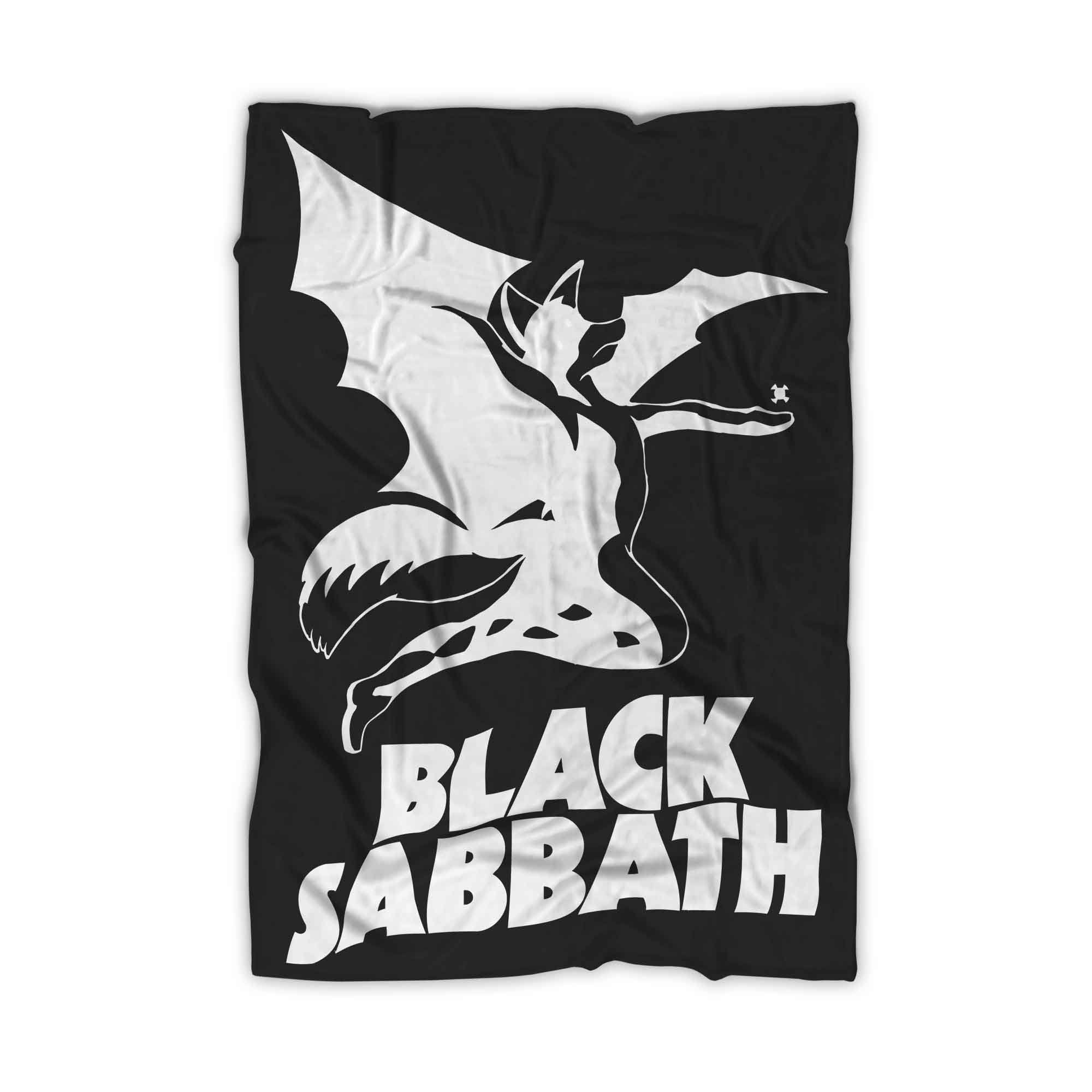Black Sabbath Logo With Fox Blanket