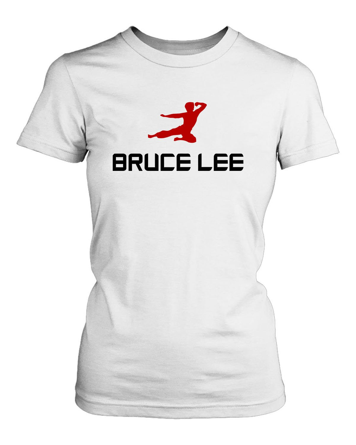 Bruce Lee Flying Kick Women's T-Shirt - Nuu Shirtz