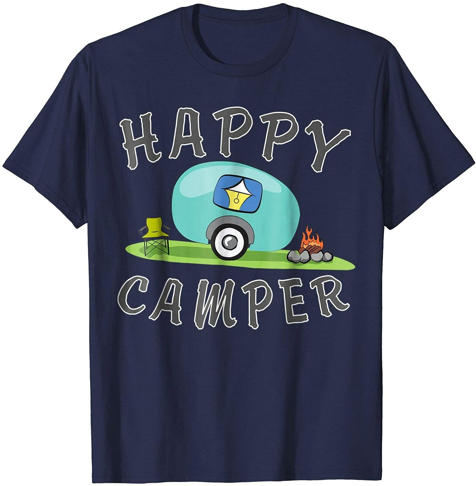 Camping Happy Camping Trailer Camper Men's T-Shirt - Nuu Shirtz