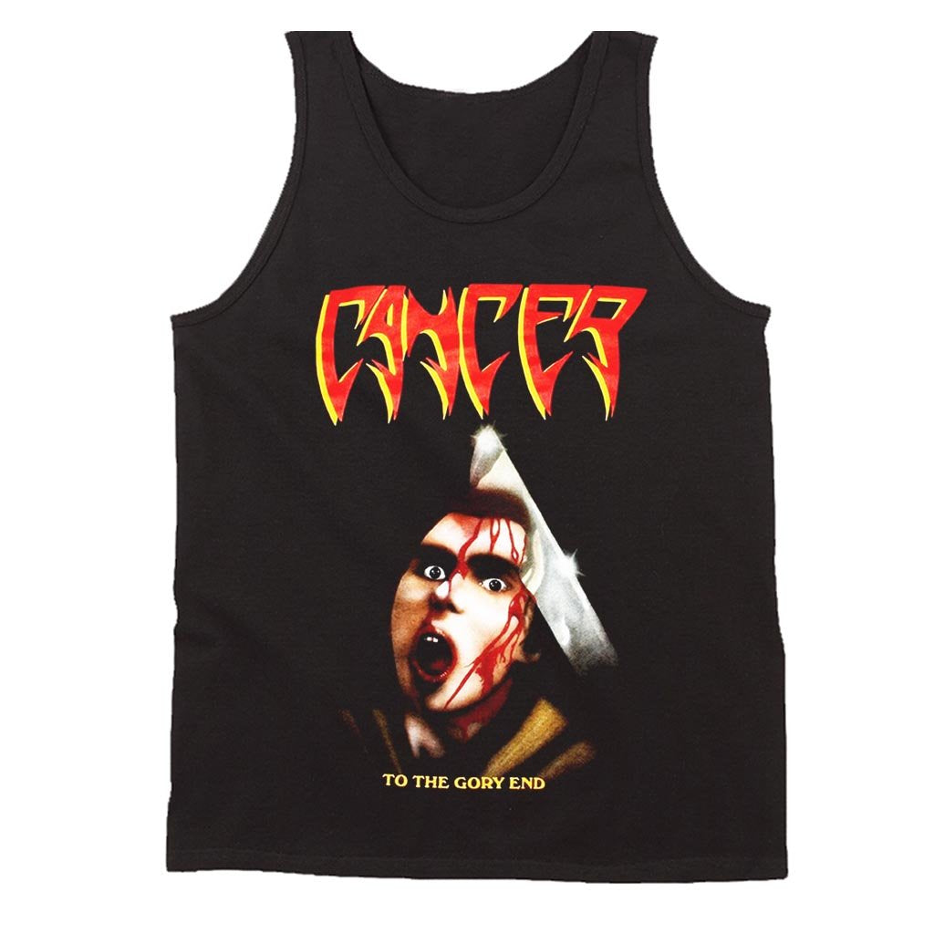 Cancer To The Gory End Death Disincarnate Obituary Deicide Men's Tank Top - Nuu Shirtz