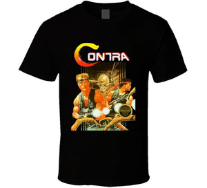 Contra Retro Nes Box Art Video Game Retro Men's T-Shirt - Nuu Shirtz