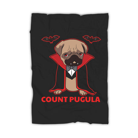 Count Pugula Halloween Funny And Cute Pug Vampire Blanket