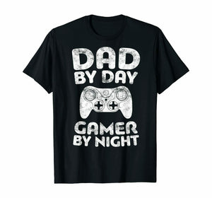 Dad By Day Gamer By Night Men's T-Shirt - Nuu Shirtz