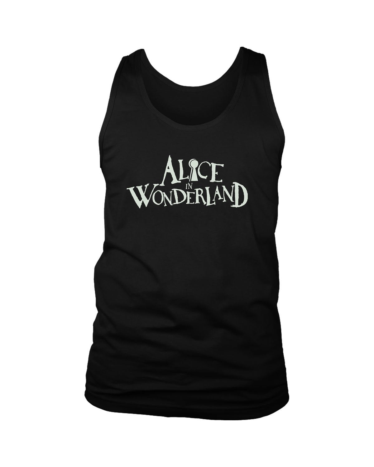 Disney Alice In Wonderland Logo Men's Tank Top - Nuu Shirtz