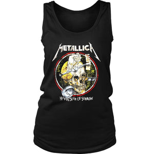 Distressed Metallica Women's Tank Top - Nuu Shirtz