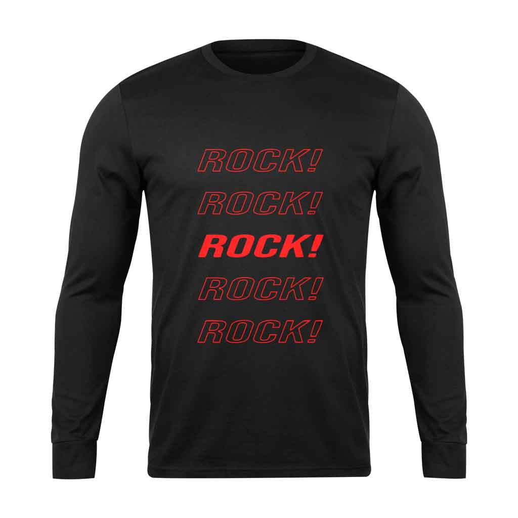Eddie Van Halen Rock Rock Rock Long Sleeve - Nuu Shirtz