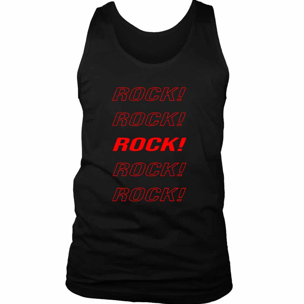 Eddie Van Halen Rock Rock Rock Men's Tank Top - Nuu Shirtz