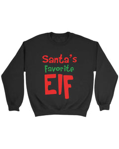 Elf Christmas Santa Santa Favorite Elf Sweatshirt