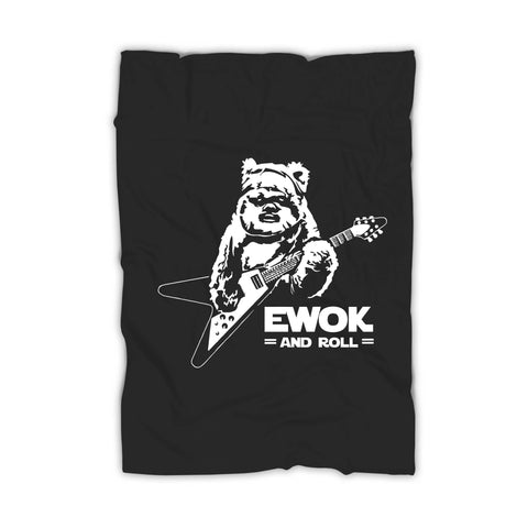 Ewok And Roll Guitar Funny Blanket