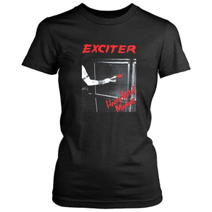 Exciter Heavy Metal Maniac Anvil Anthrax Speed Thrash Women's T-Shirt