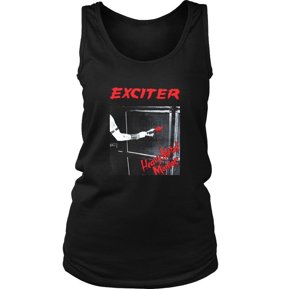Exciter Heavy Metal Maniac Anvil Anthrax Speed Thrash Women's Tank Top