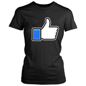 Face Book Fb Like Thumbs Up Logo Funny Women's T-Shirt