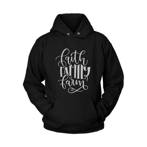 Faith Family Farm Quotes Hoodie