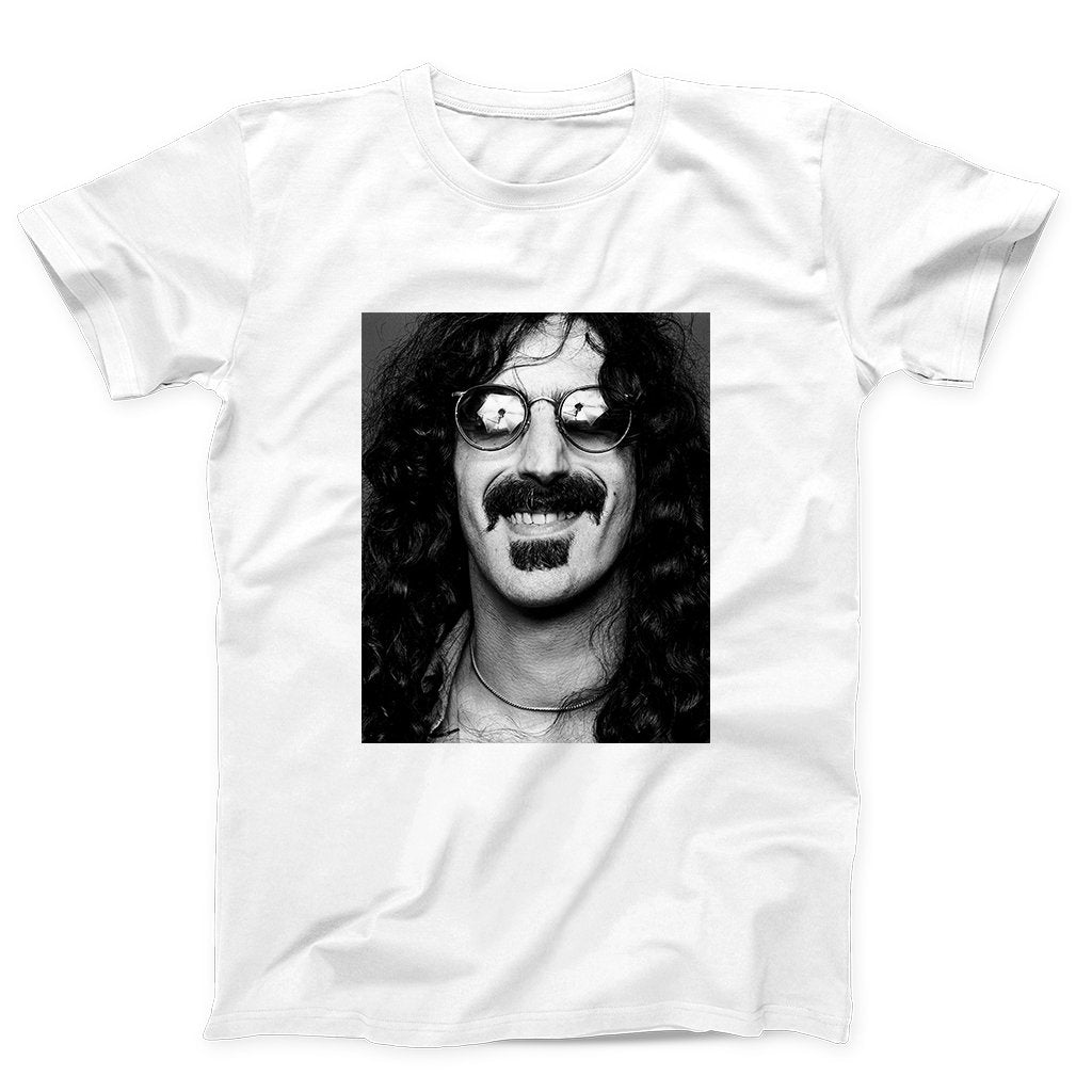 Frank Zappa Grayscale With Eyes Glasses Men's T-Shirt - Nuu Shirtz