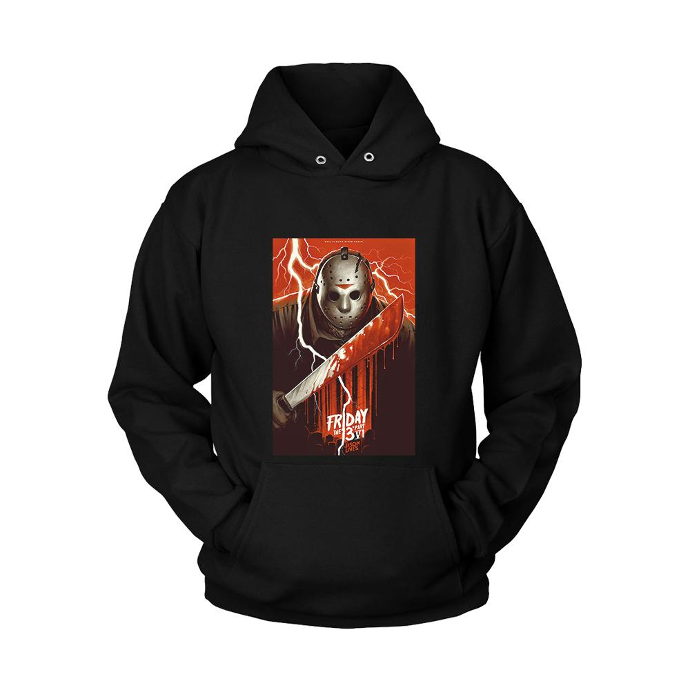 Friday The 13th Part 4 Poster Jason Lives Unisex Hoodie - Nuu Shirtz