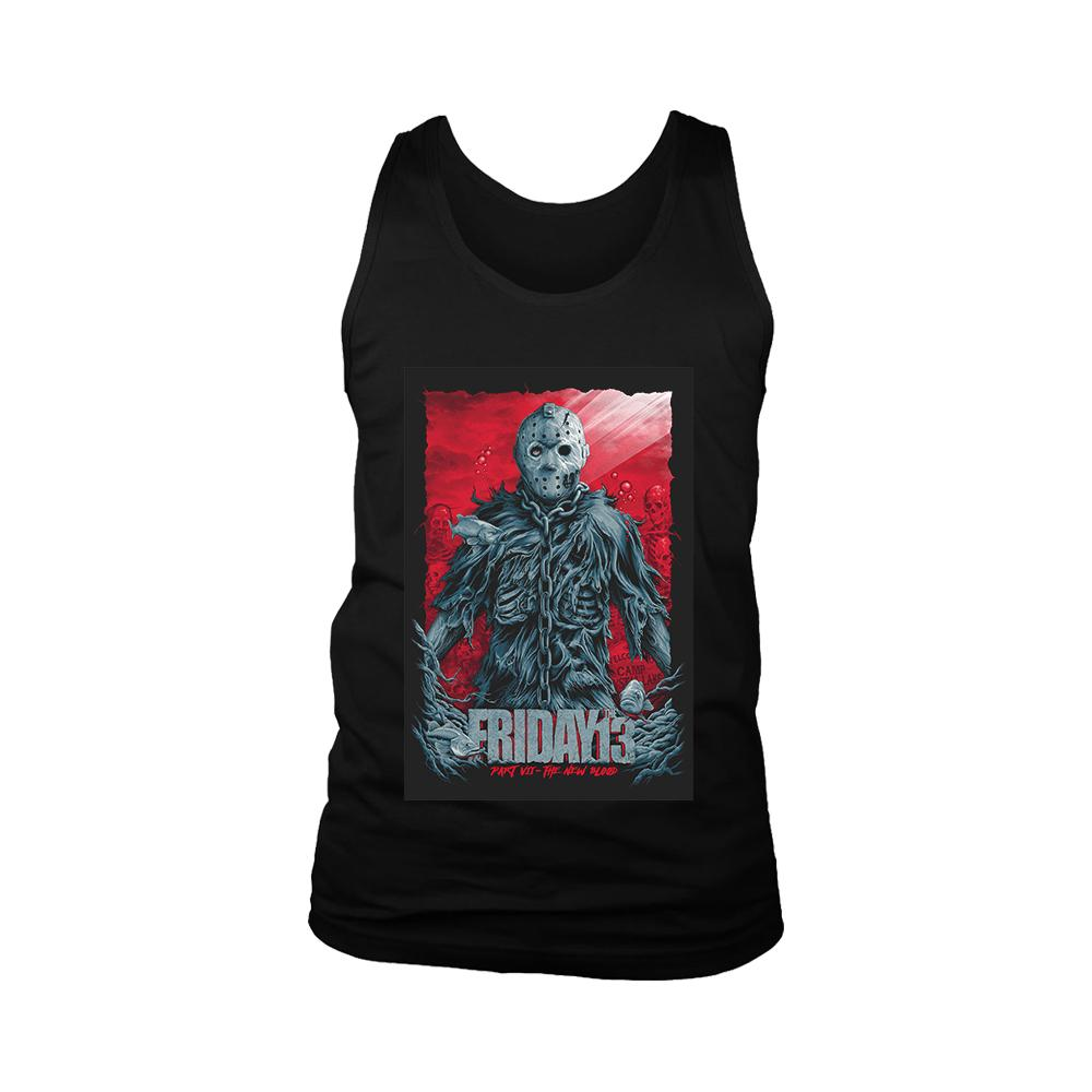 Friday The 13th Part 7 The New Blood Poster Men's Tank Top - Nuu Shirtz