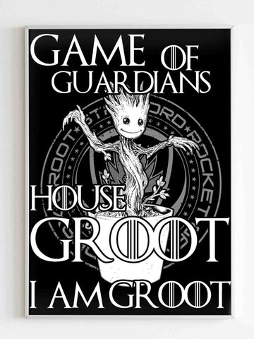 Game Of Guardians House Groot Poster - Nuu Shirtz