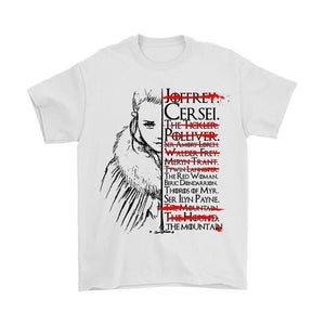 Game Of Thrones Arya Kill List Got Men's T-Shirt - Nuu Shirtz