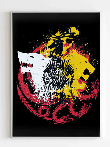 Game Of Thrones Game Of Colors Poster - Nuu Shirtz