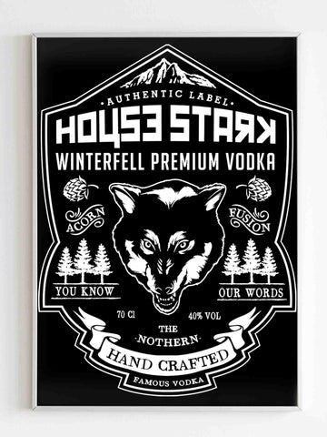 Game Of Thrones House Stark Poster - Nuu Shirtz