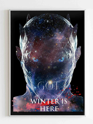 Game Of Thrones Winter Is Here Galaxy Poster - Nuu Shirtz